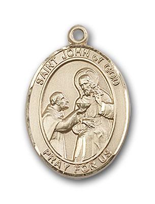 14K Gold St. John of God Pendant