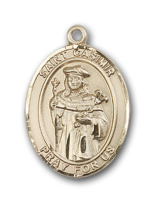 Gold-Filled St. Casimir of Poland Pendant