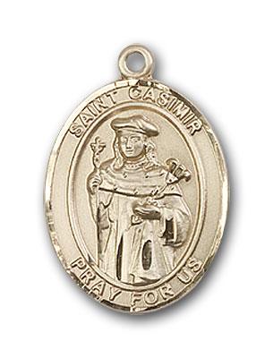 14K Gold St. Casimir of Poland Pendant