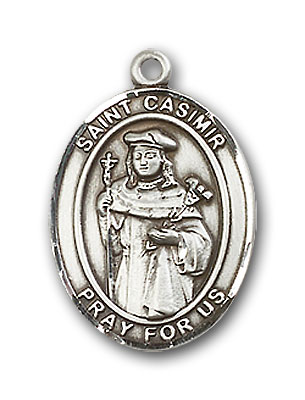 Sterling Silver St. Casimir of Poland Pendant