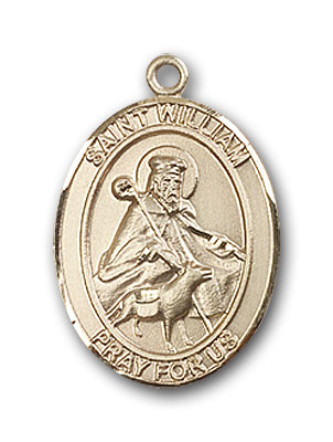 14K Gold St. William of Rochester Pendant