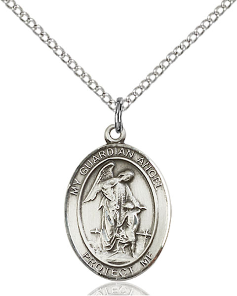 Sterling silver guardian angel medal at catholic shop sterling silver guardian angel pendant aloadofball Gallery