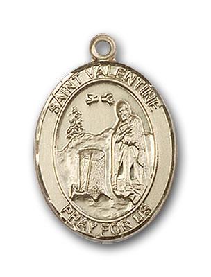 14K Gold St. Valentine of Rome Pendant