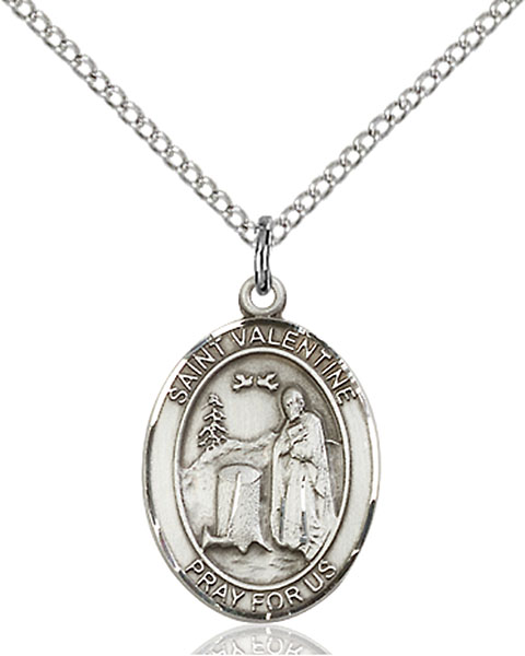 Sterling Silver St. Valentine of Rome Pendant