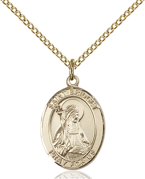 Gold-Filled St. Bridget of Sweden Pendant