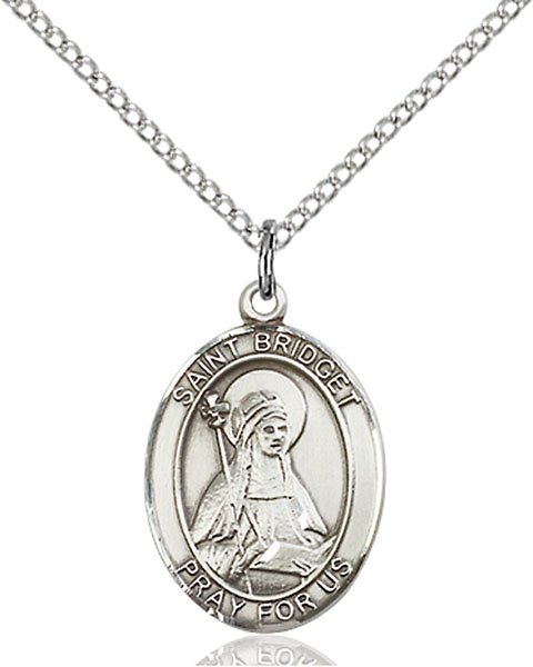 Sterling Silver St. Bridget of Sweden Pendant