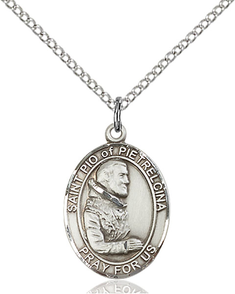 Sterling Silver St. Pio of Pietrelcina Pendant