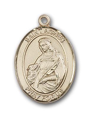 14K Gold St. Agnes of Rome Pendant