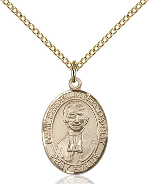 Gold-Filled St. Marcellin Champagnat Pendant