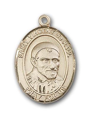 Gold-Filled St. Vincent De Paul Pendant