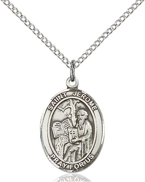 Sterling Silver St. Jerome Pendant