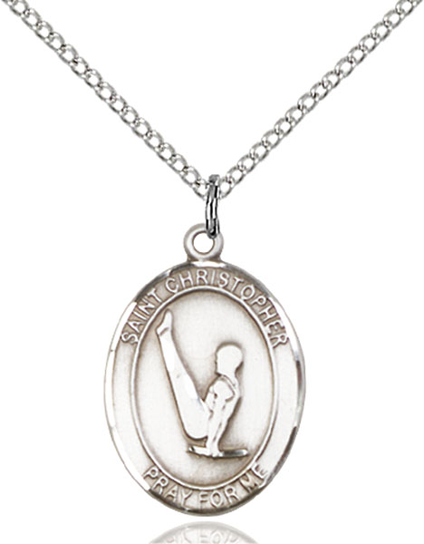 Sterling Silver St. Christopher Gymnastics Pendant