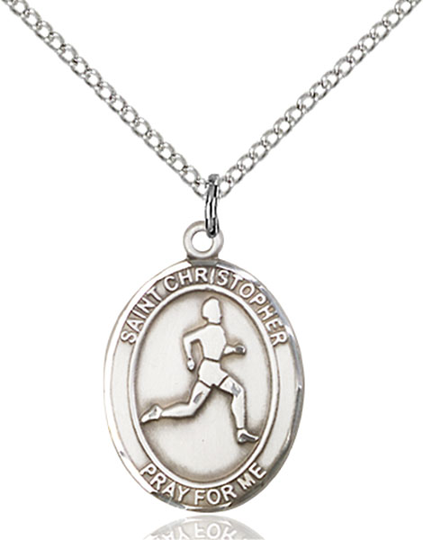 Sterling Silver St. Christopher Track & Field Pend