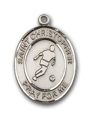 Sterling Silver St. Christopher Soccer Pendant