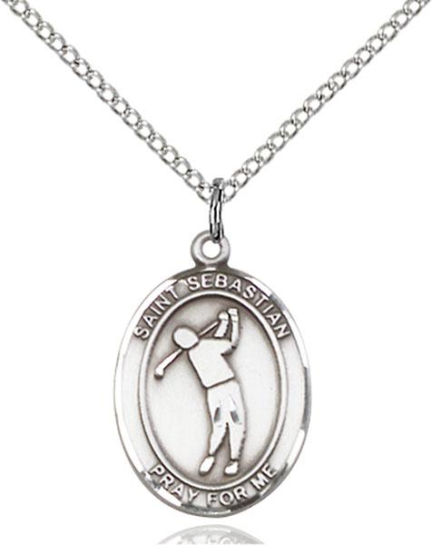 Sterling Silver St. Sebastian Golf Pendant