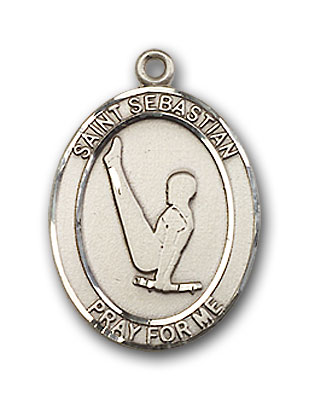 Sterling Silver St. Sebastian Gymnastics Pendant