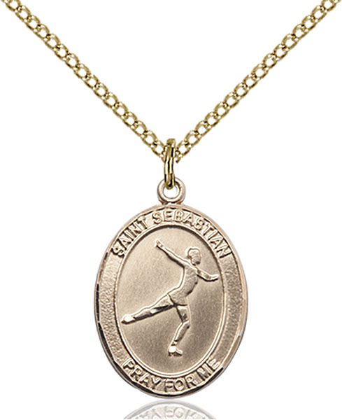Gold-Filled St. Sebastian Figure Skating Pendant