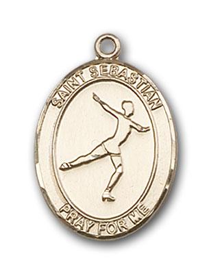 14K Gold St. Sebastian Figure Skating Pendant