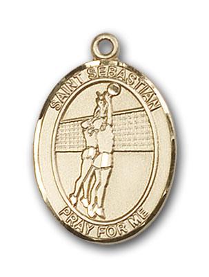 Gold-Filled St. Sebastian Volleyball Pendant