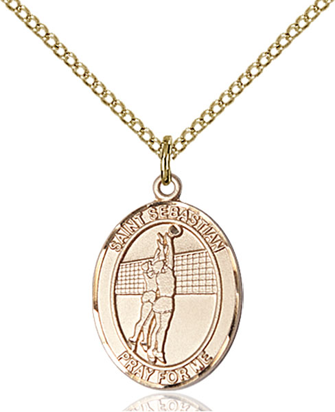Gold-Filled St. Sebastian Volleyball Pendant