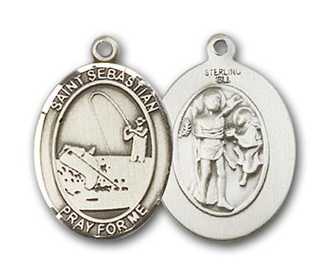 Sterling Silver St. Sebastian Fishing Pendant