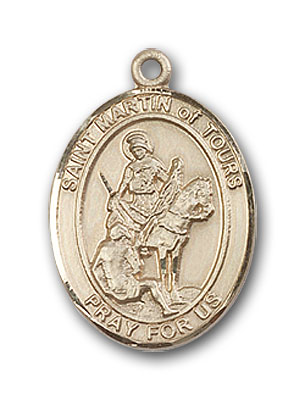 14K Gold St. Martin of Tours Pendant