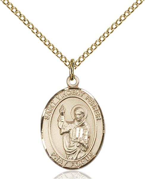 Gold-Filled St. Vincent Ferrer Pendant