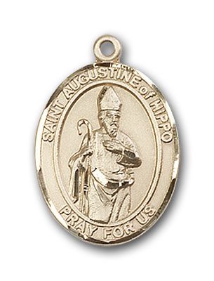 14K Gold St. Augustine of Hippo Pendant
