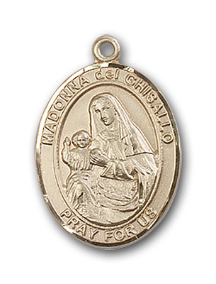 14K Gold St. Madonna Del Ghisallo Pendant