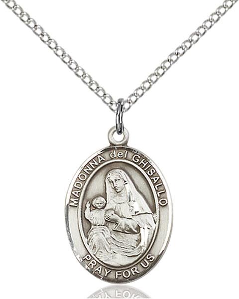 Sterling Silver St. Madonna Del Ghisallo Pendant