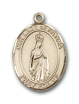 14K Gold OUR LADY of Fatima Pendant