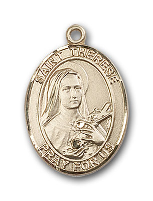 14K Gold St. Therese of Lisieux Pendant