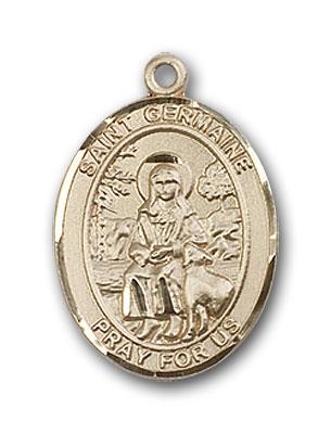 14K Gold St. Germaine Cousin Pendant