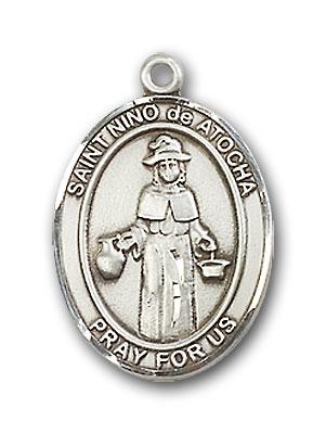 Sterling Silver St. Nino de Atocha Pendant