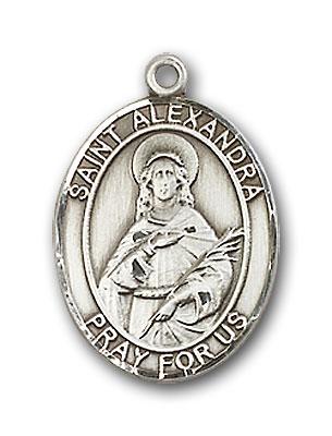 Sterling Silver St. Alexandra Pendant