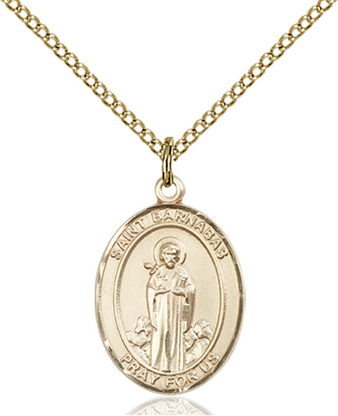 Gold-Filled St. Barnabas Pendant