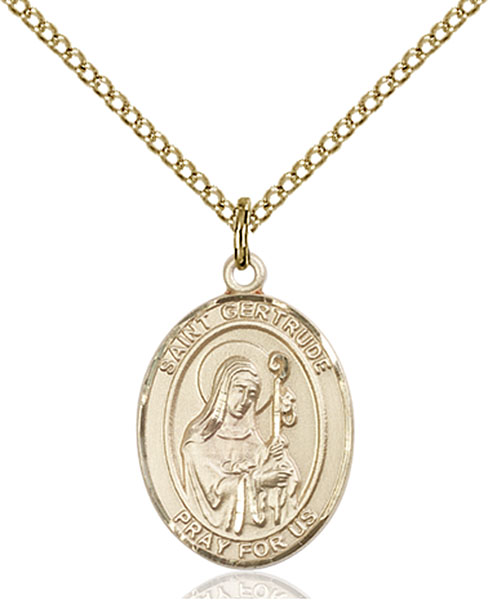 Gold-Filled St. Gertrude of Nivelles Pendant