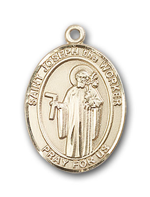 14K Gold St. Joseph The Worker Pendant