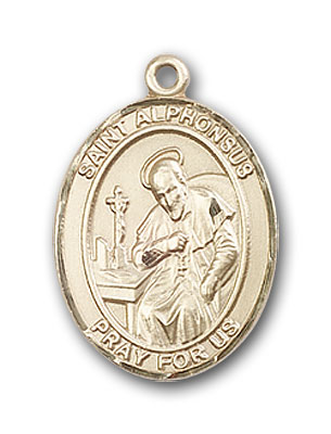 14K Gold St. Alphonsus Pendant
