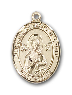 14K Gold OUR LADY of Perpetual Help Pendant