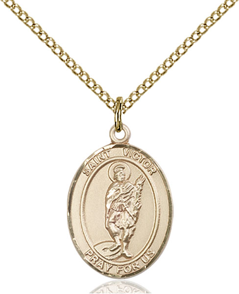 Gold-Filled St. Victor of Marseilles Pendant