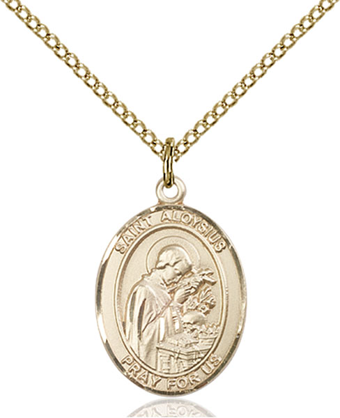 Gold-Filled St. Aloysius Gonzaga Pendant