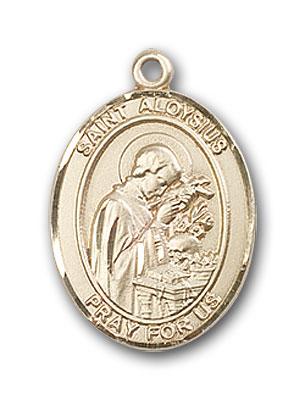 14K Gold St. Aloysius Gonzaga Pendant
