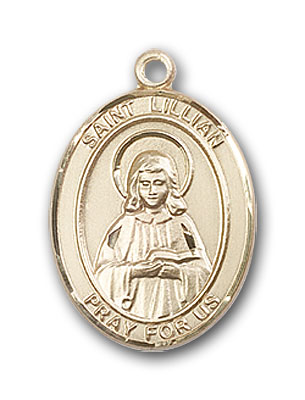 14K Gold St. Lillian Pendant