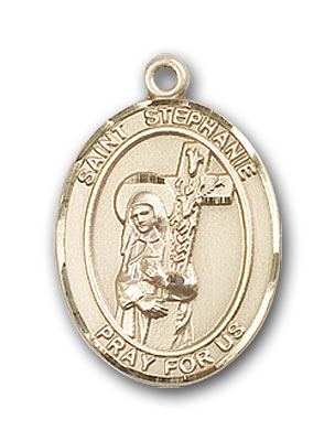 14K Gold St. Stephanie Pendant