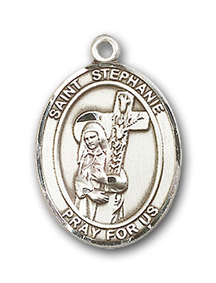Sterling Silver St. Stephanie Pendant