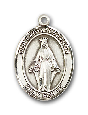 Sterling Silver Our Lady of Lebanon Pendant