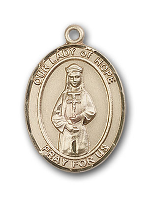 14K Gold OUR LADY of Hope Pendant