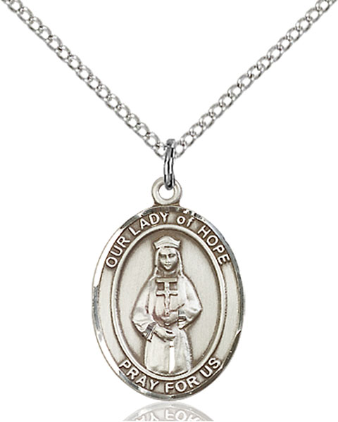 Sterling Silver Our Lady of Hope Pendant