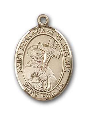 Gold-Filled St. Bernard of Clairvaux Pendant